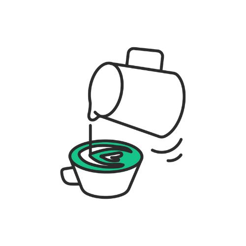 pictogramme latte art