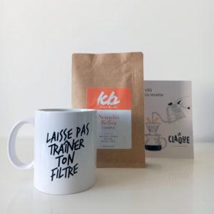 Kit la base avec notre mug, 250g café et une carte recette V60