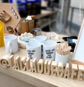 Stand du merchandising au Café Festival